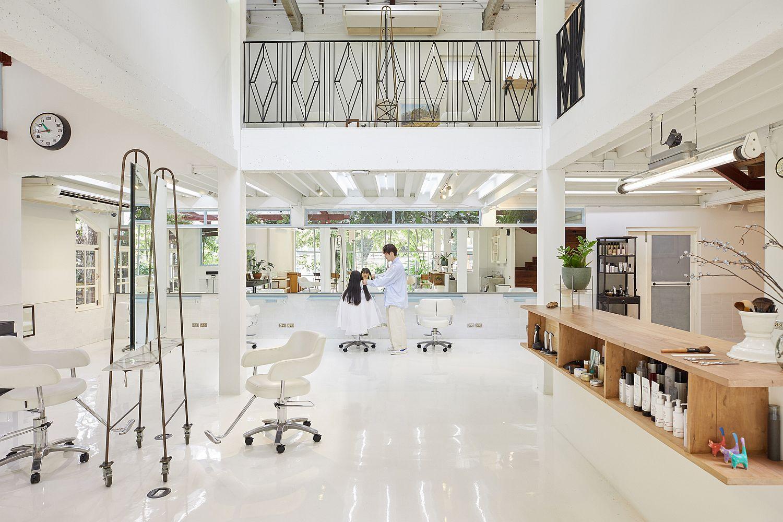 All-white interior of the SaveRikyu by boy Tokyo in Bangkok