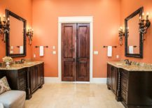 Awesome-orange-and-black-bathroom-with-traditional-contemporary-style-217x155