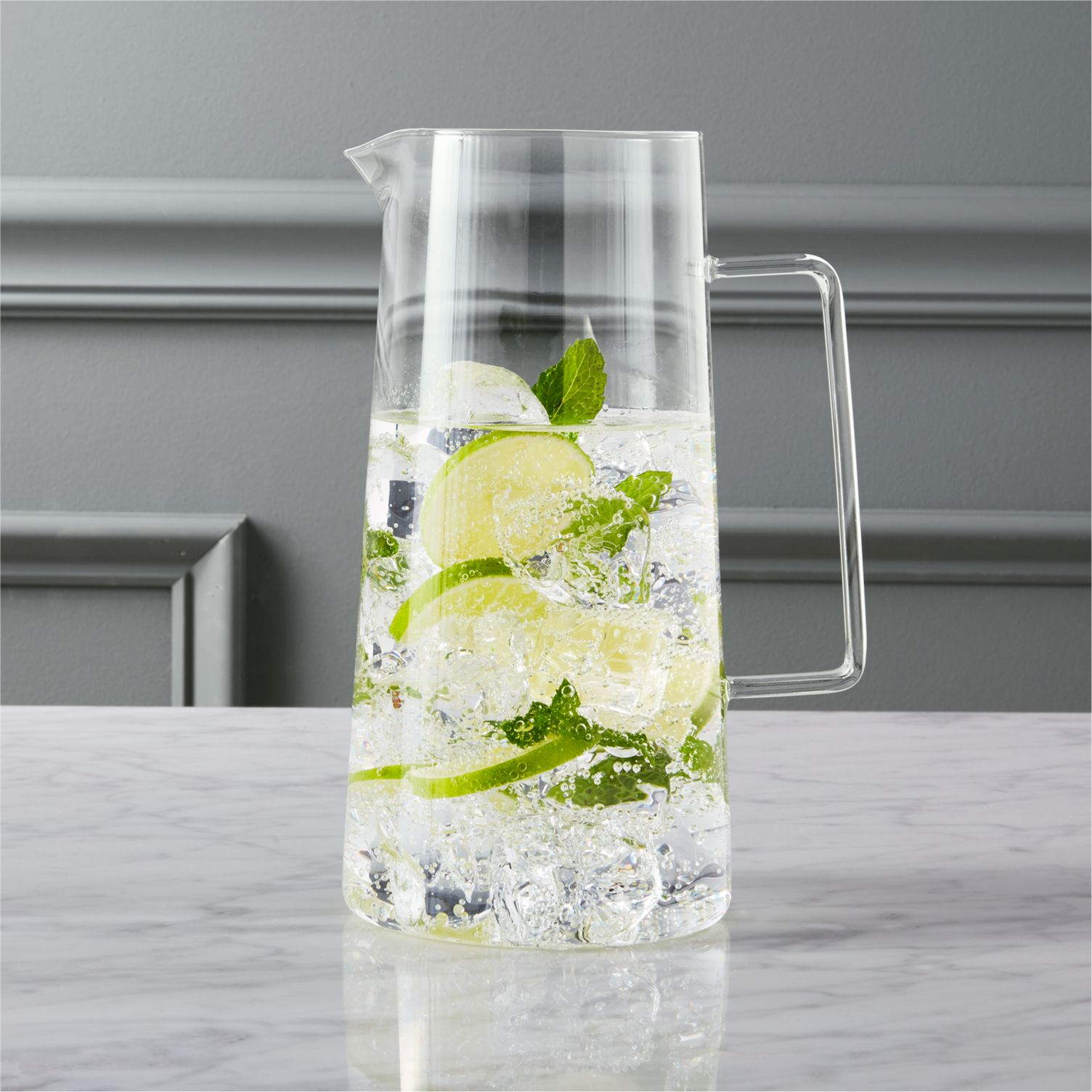 Beaker glass pitcher from CB2