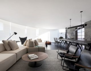 Stunning Minimal Interior in Black and White with Iconic Décor Additions