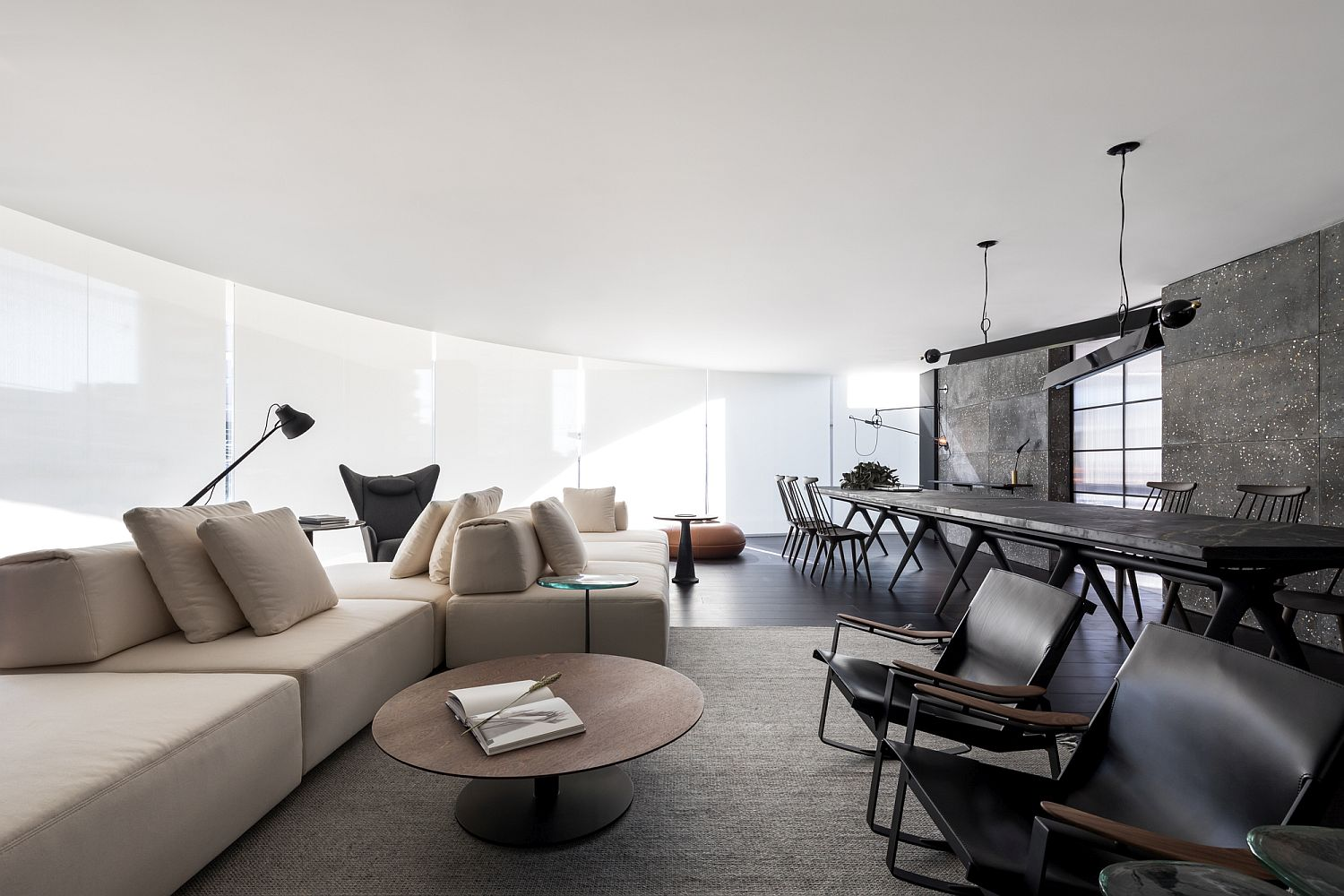 Casual living room sofa placement adds to its style