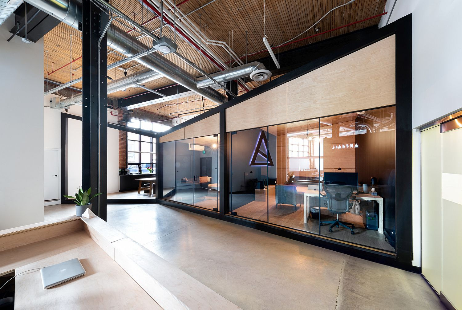 Custom VFX studios are combined with open space inside the office