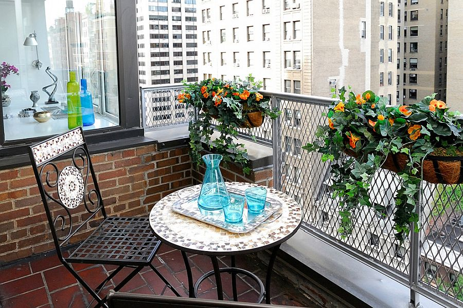Dash of timeless NYC charm for the tiny balcony next to the bedroom