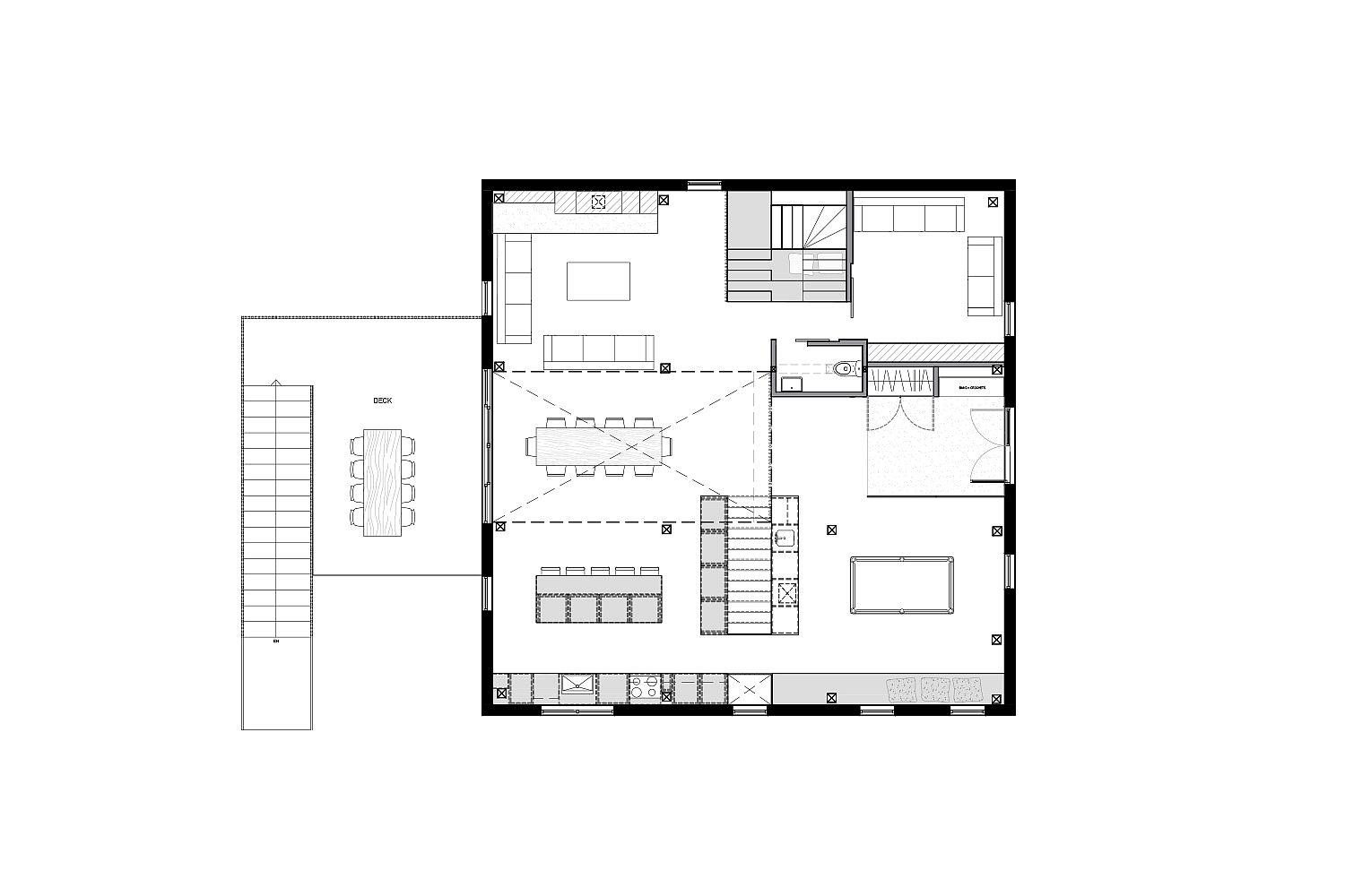 Design plan of the The Barn in Quebec