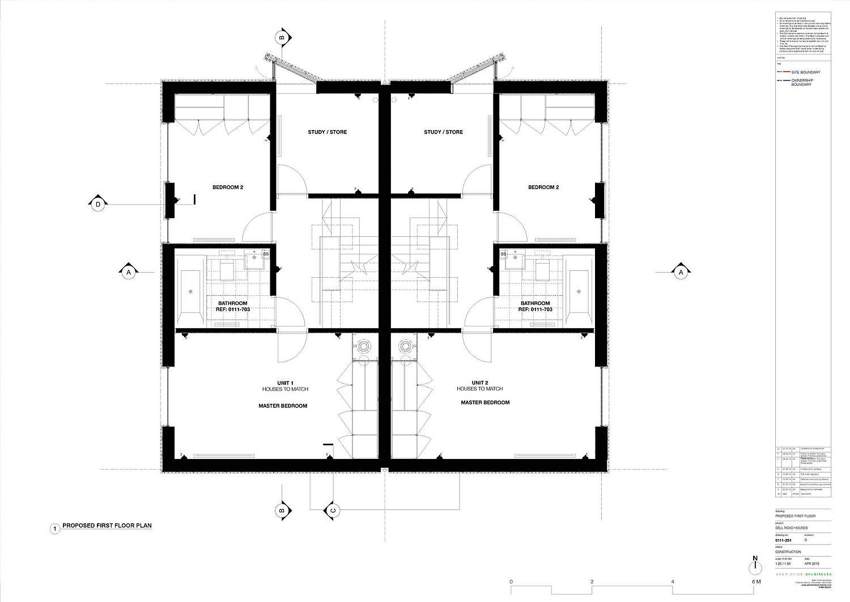 First floor design plan of The Cedar Lodges