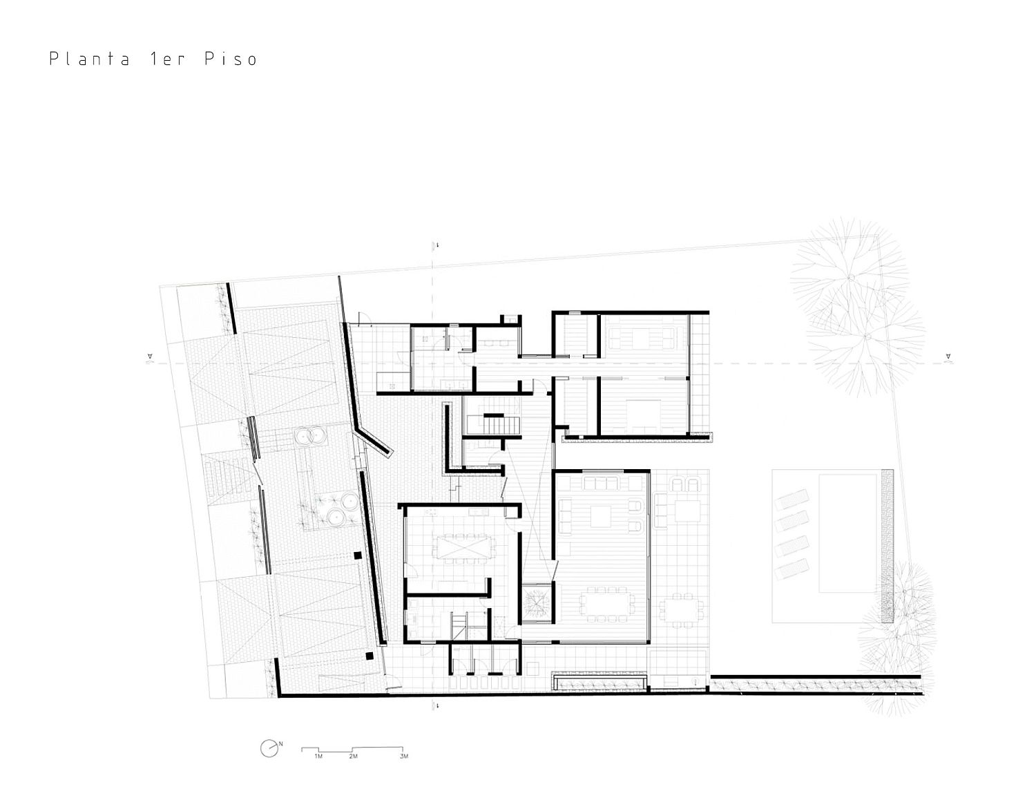 Floor plan of Cerro la Cruz House in Lo Barnechea, Chile