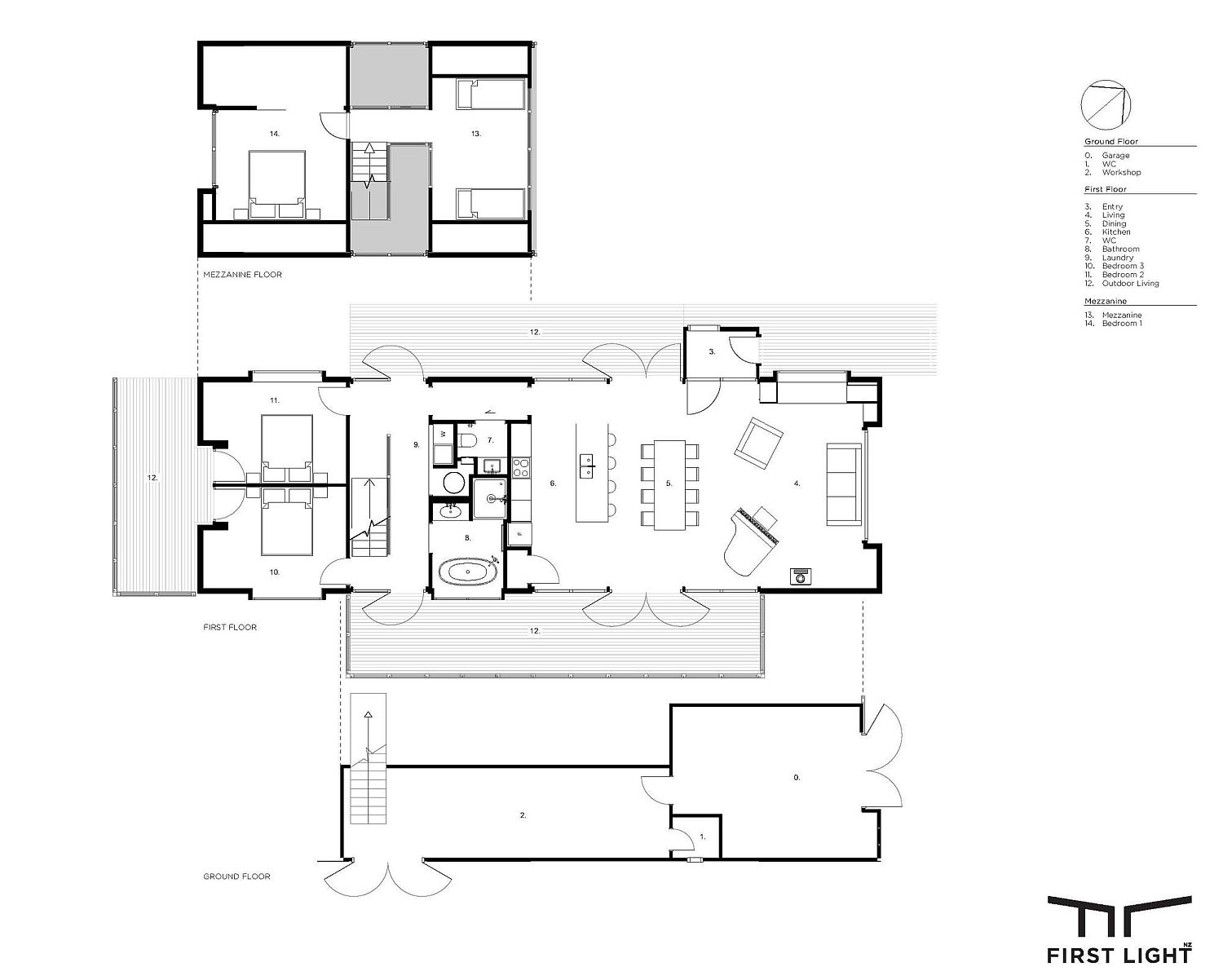 Floor plan of Governors Bay House