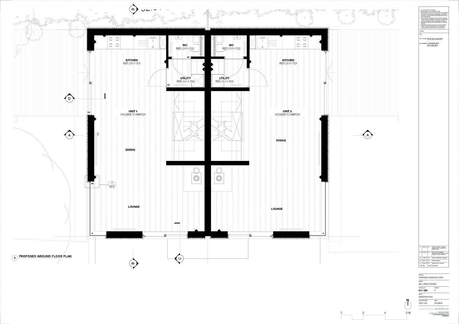 Ground floor plan of the Cedar Lodges in Winchester