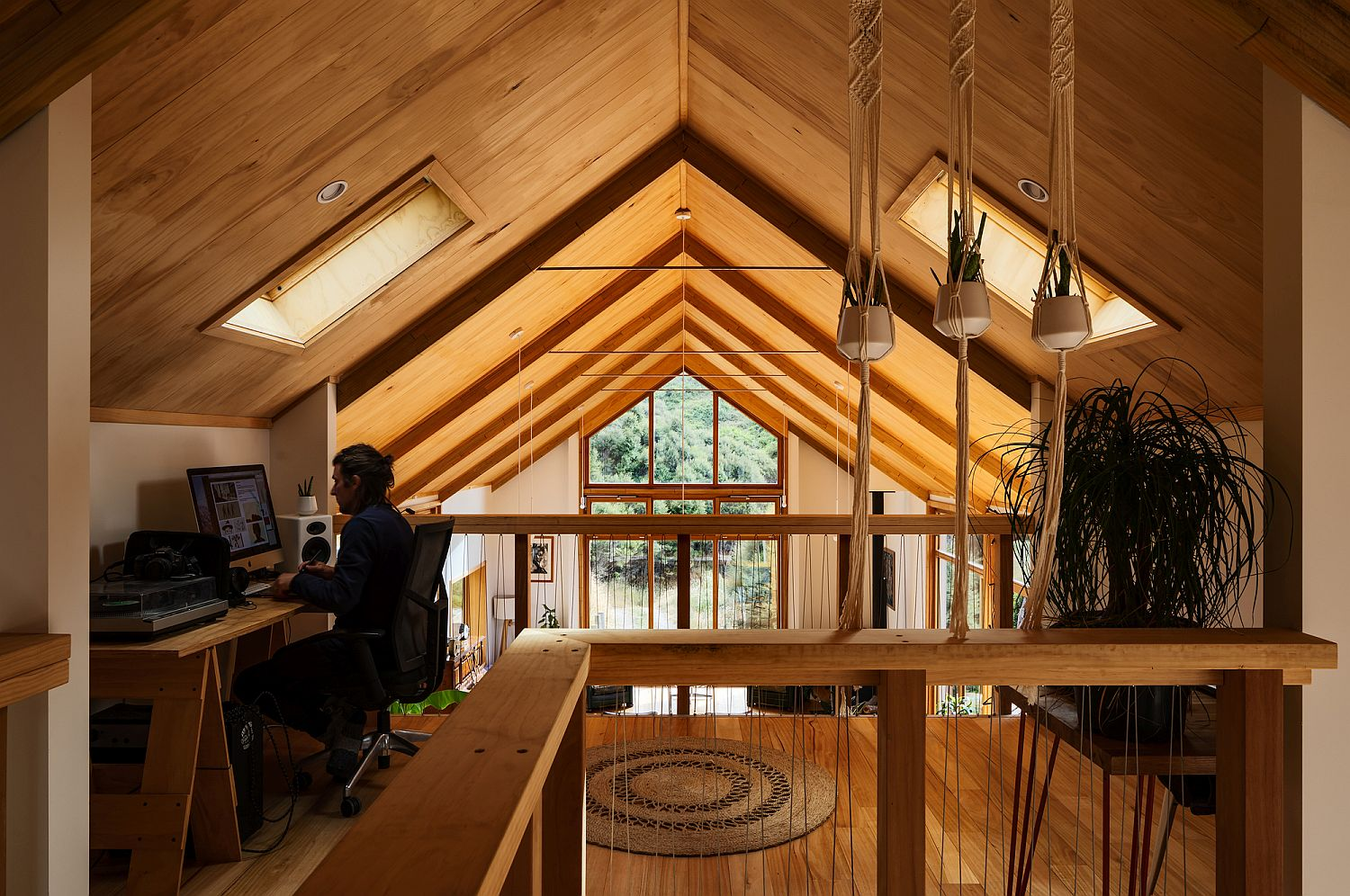 Home workspace in the attic makes most of additional space