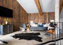 Innovative-living-room-of-the-house-with-wooden-walls-and-ceiling-beams-217x155