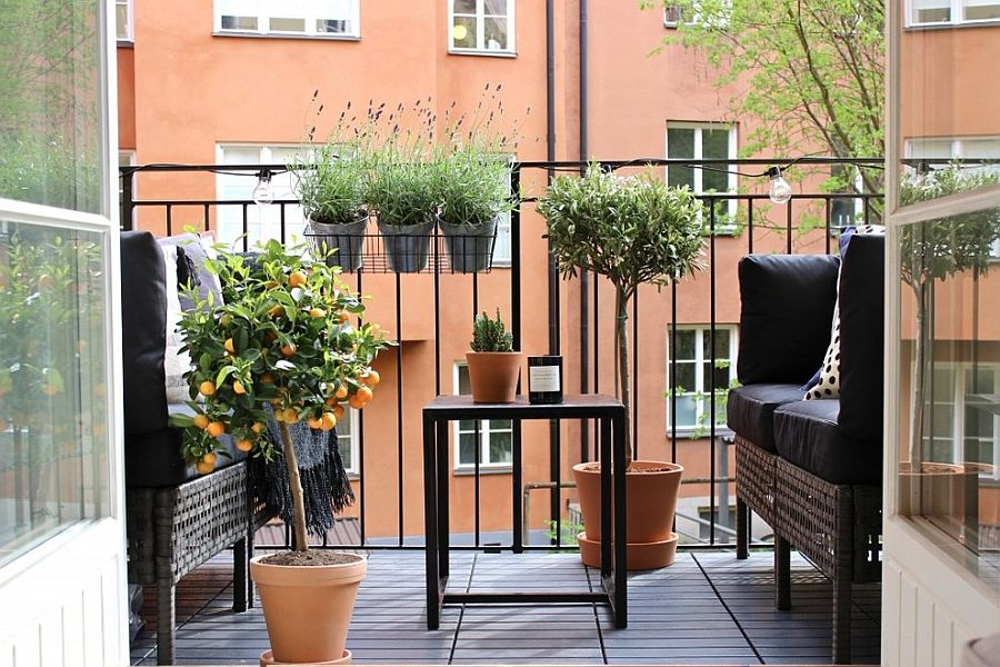 It is hard to beat the visual magic of plants and greenery while decorating the balcony!