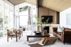 Revamped Mid-Century Hillside Home Overlooking Lake Washington