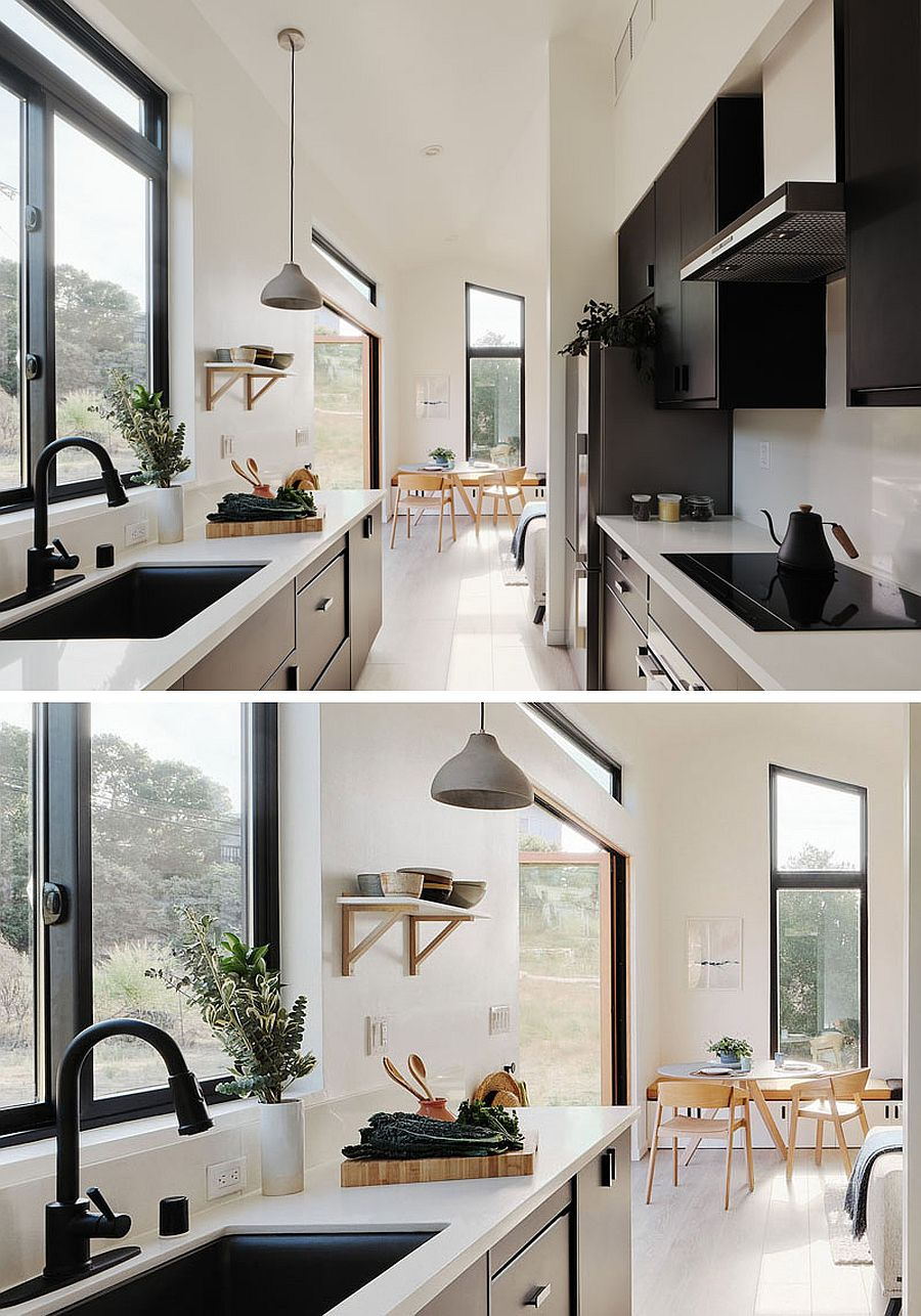 Look-at-the-gorgeous-and-stylish-kitchen-in-black-and-white-inside-the-tiny-house
