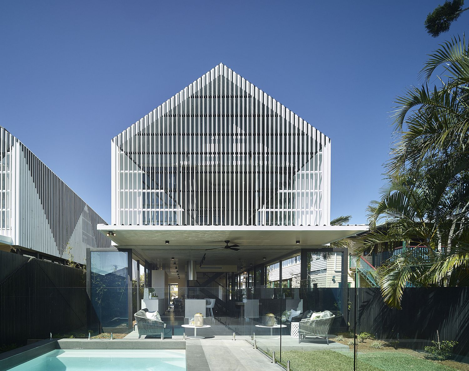Modern Minka Twins House in inner suburbs of Brisbane