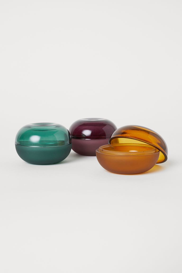 Modern glass boxes in jewel tones