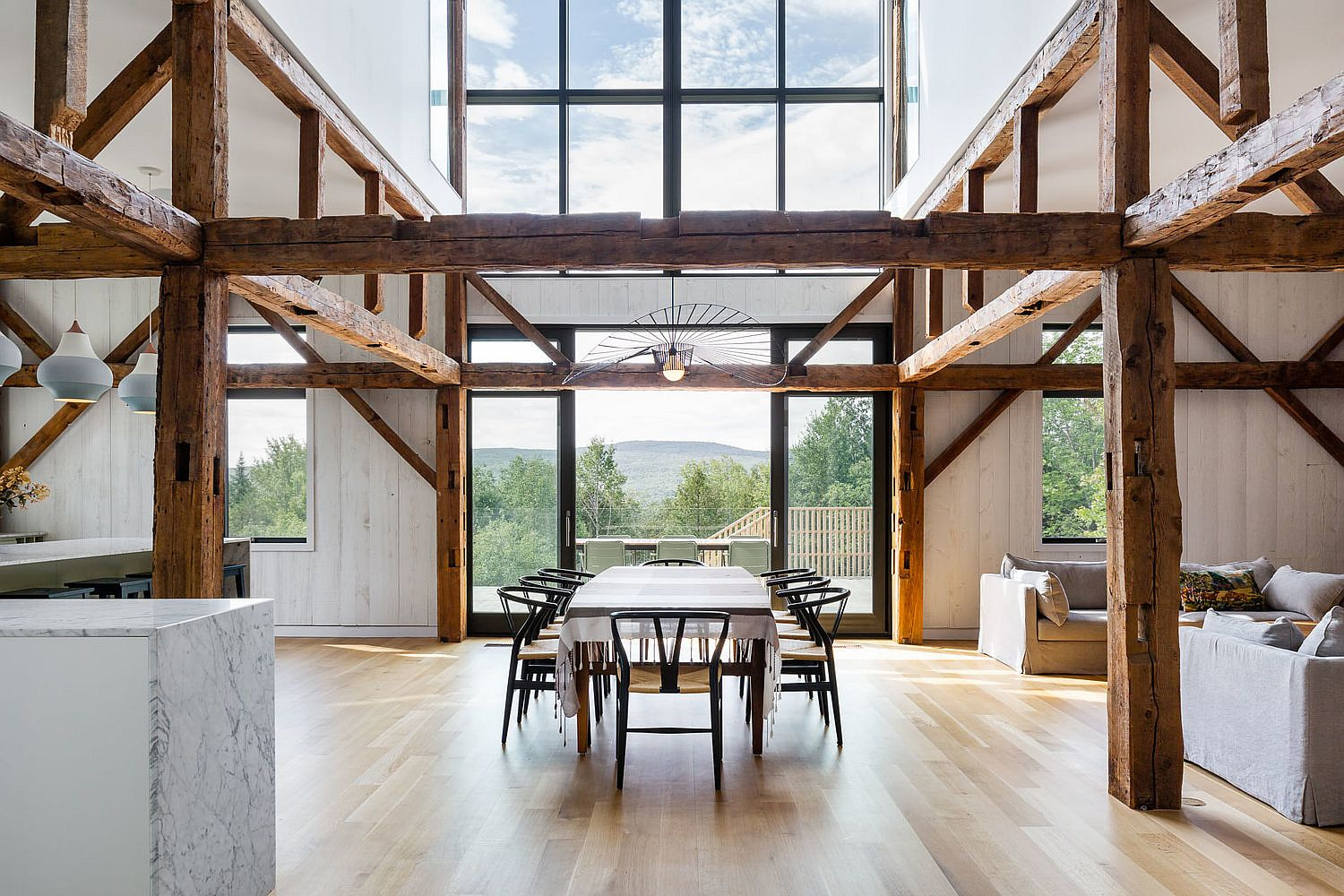 Original structure of the barn has been preserved and enhanced to create a fabulous home