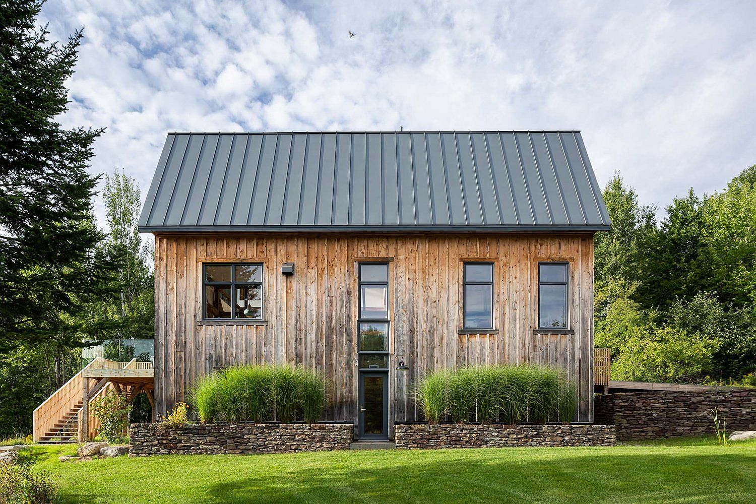 Renovated old barn in Quebec turned into a cool modern home