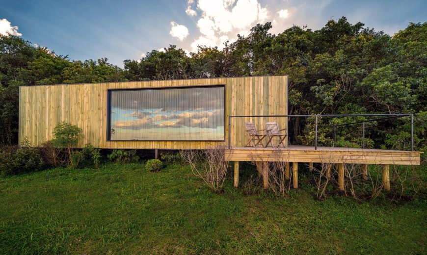 Reused Shipping Container, Wood and Concrete Shape This Cozy Refuge in Brazil
