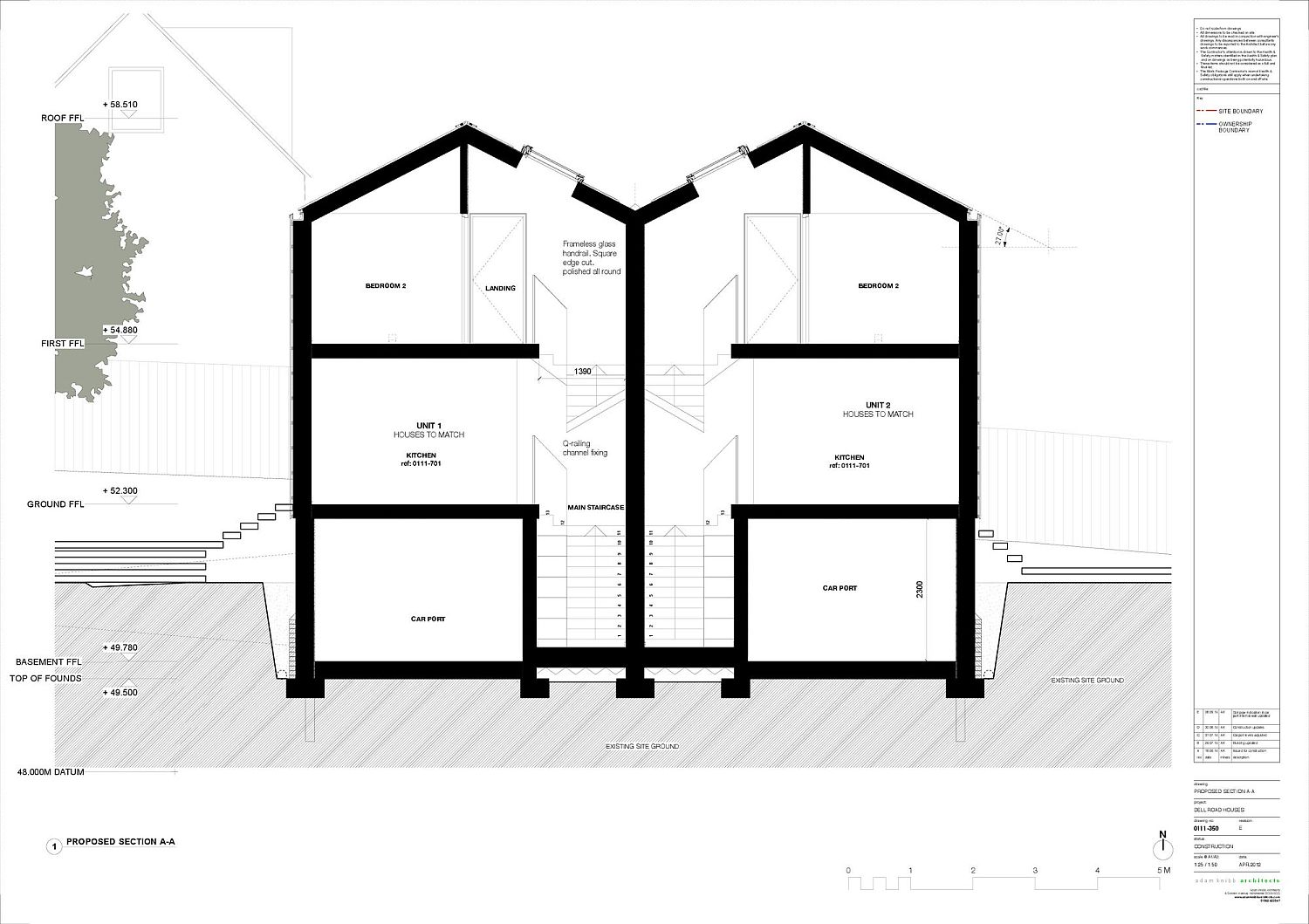 Sectional view of the Cedar Lodges