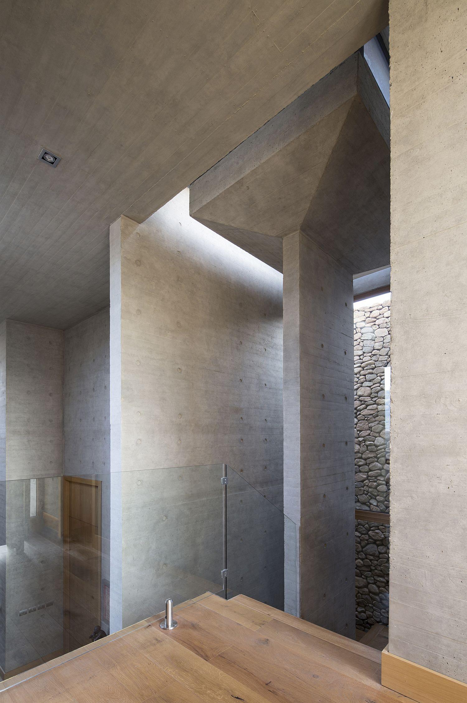 Smart concrete interior of the house