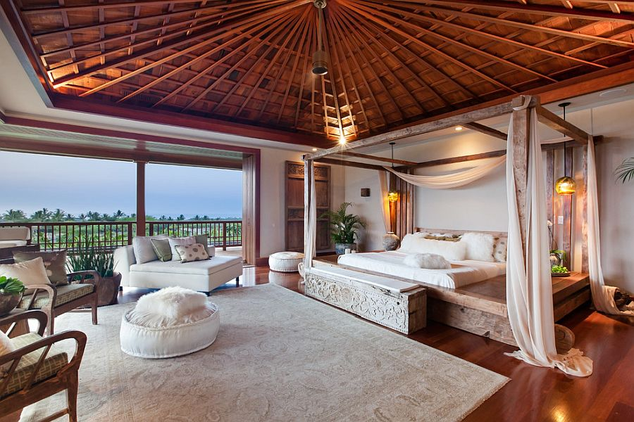 Stunning tropical style bedroom to match its opulence and design