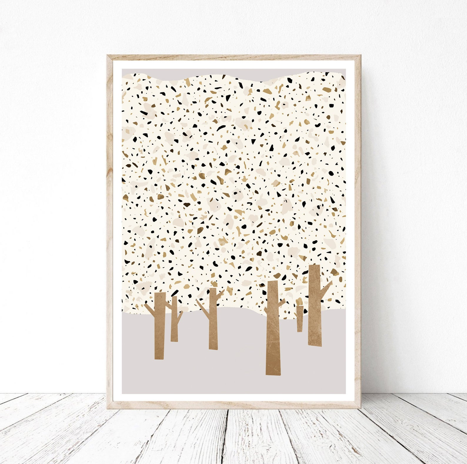 Terrazzo artwork from Etsy shop Viola & Dominic