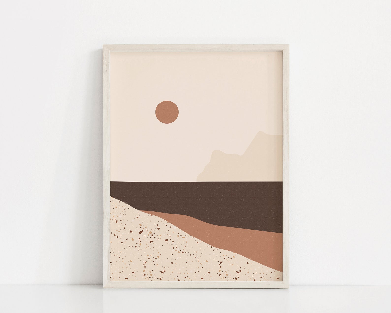 Terrazzo landscape art from Etsy shop Sundry Society