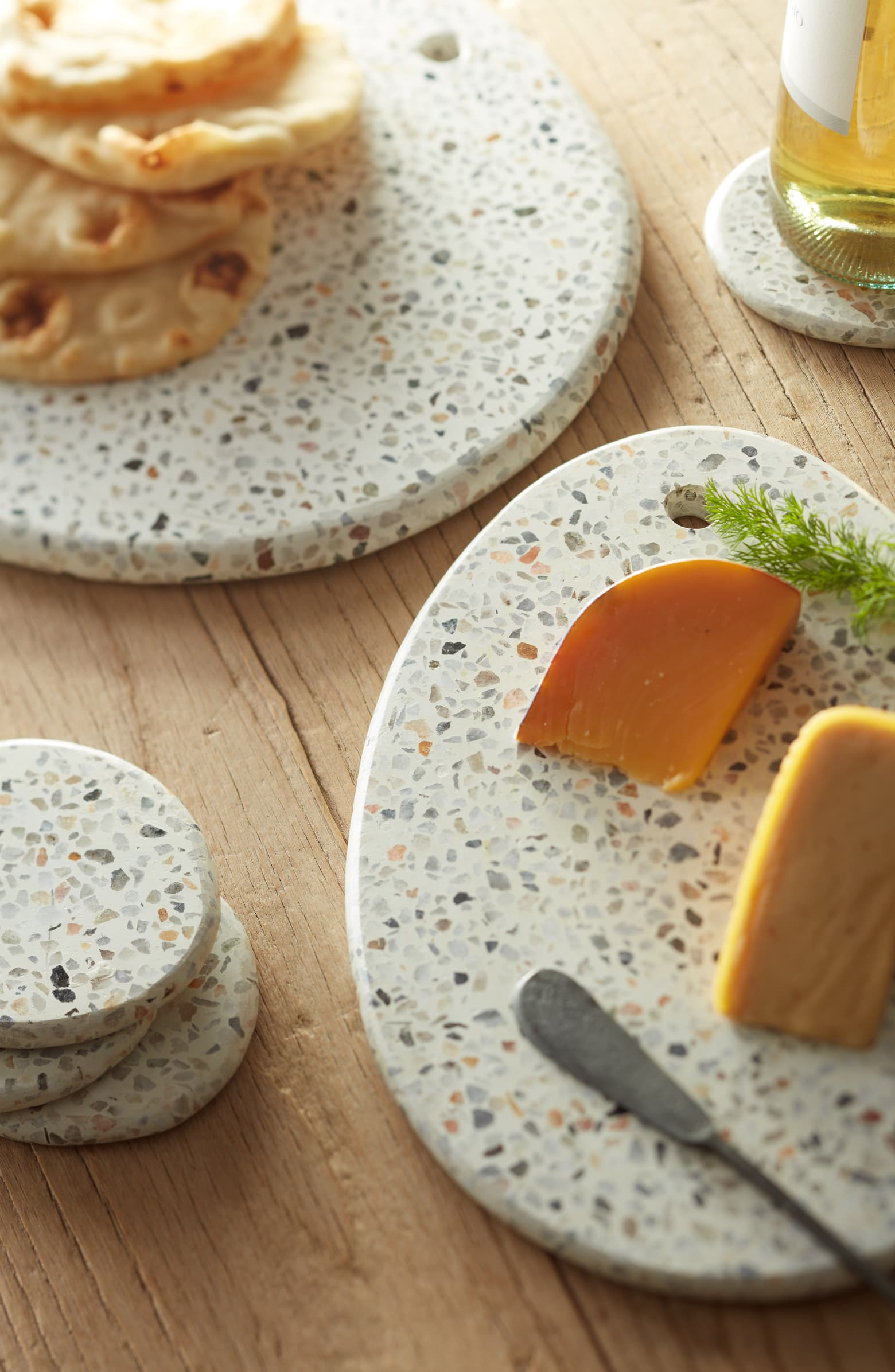 Terrazzo serving pieces