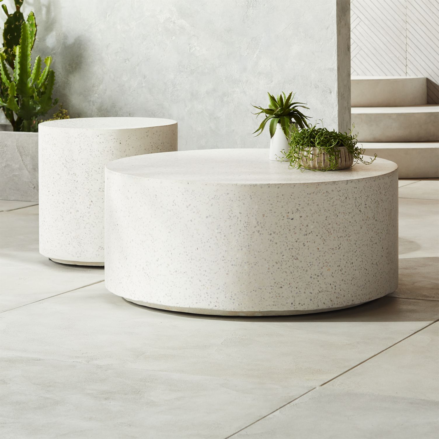 Terrazzo tables from CB2