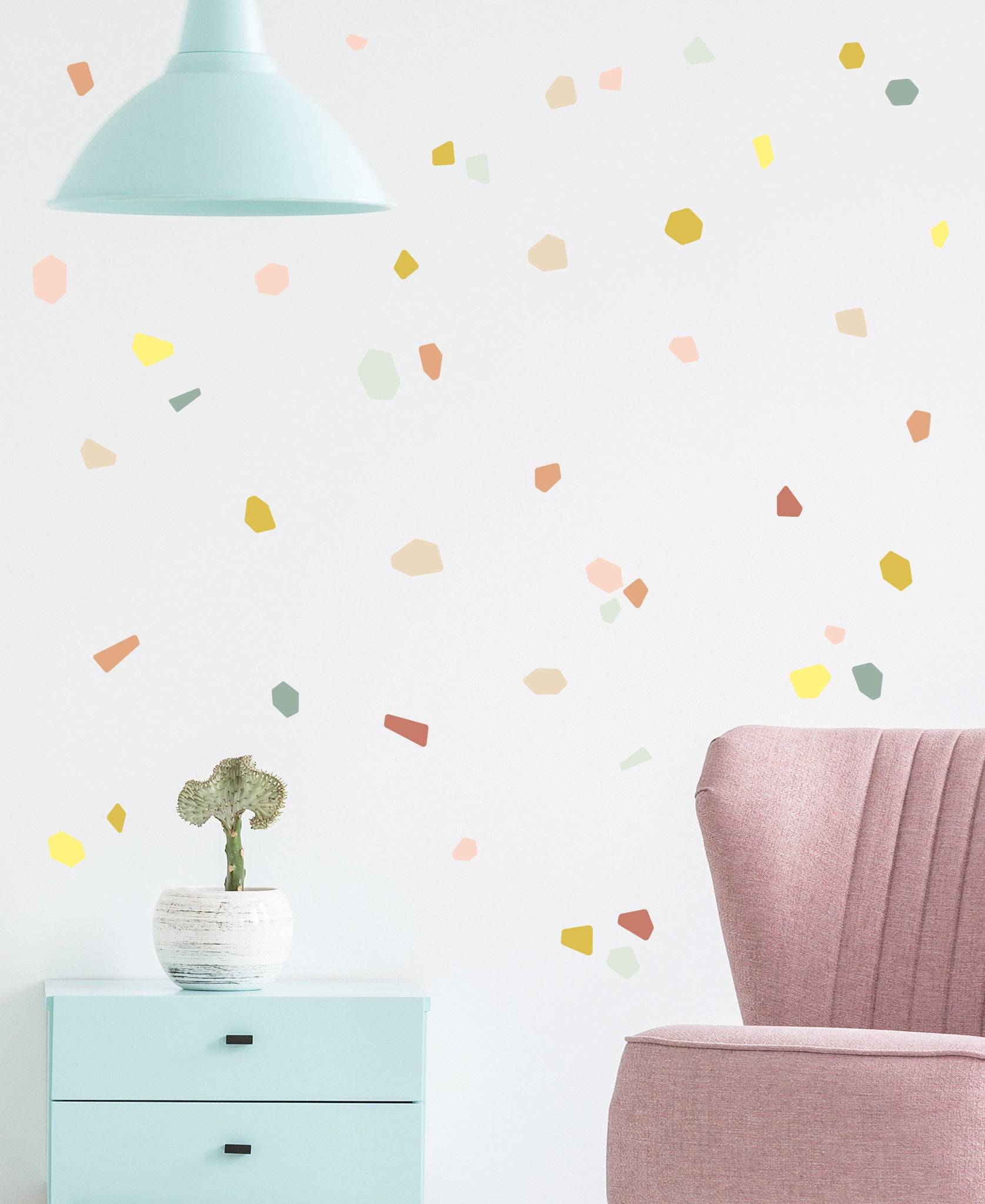 Terrazzo wall decals from Etsy shop Made by Sundays