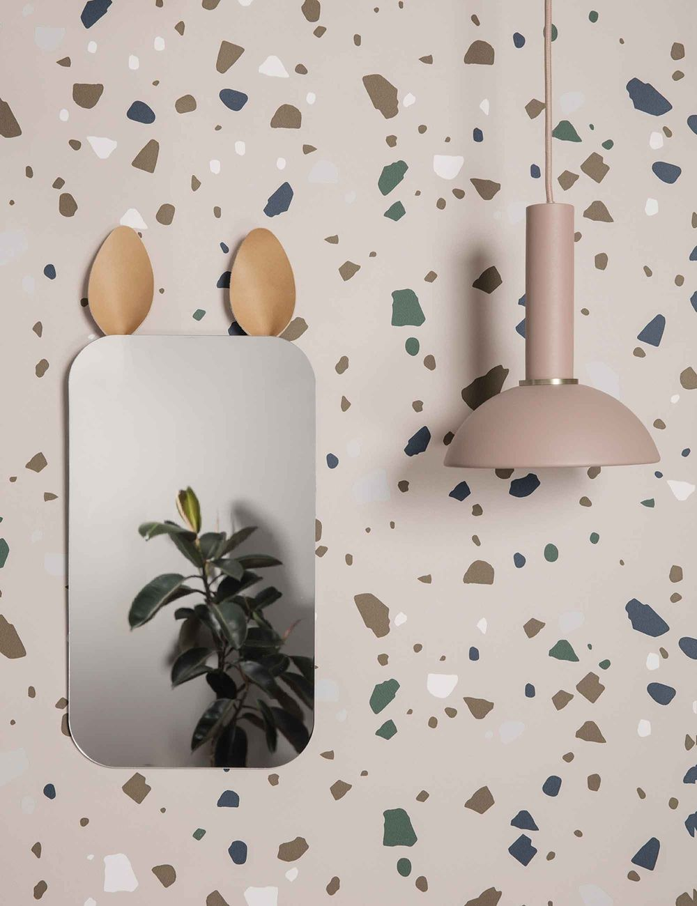 Terrazzo wallpaper from Lulu & Georgia