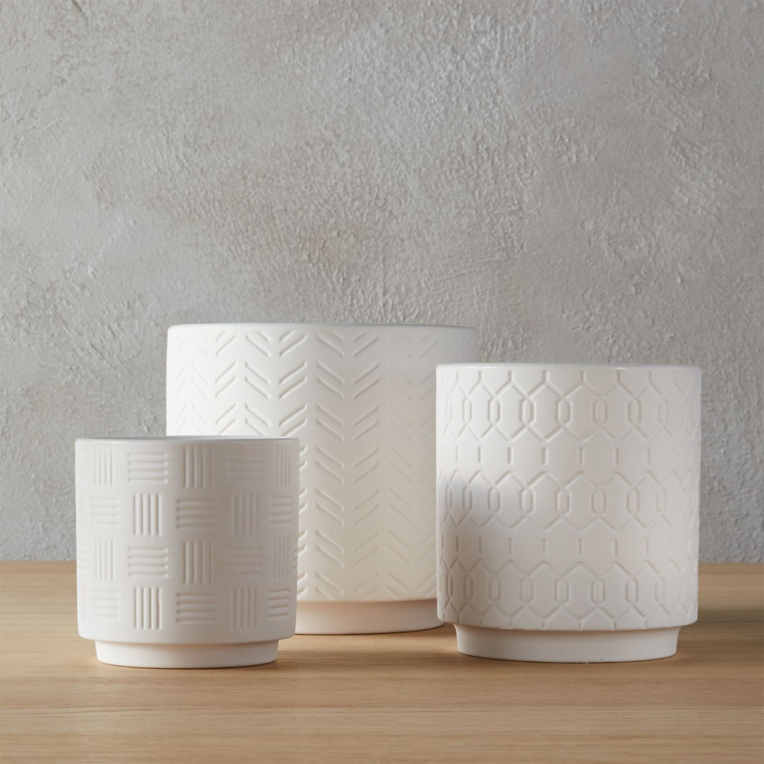 Three-piece planter set from CB2