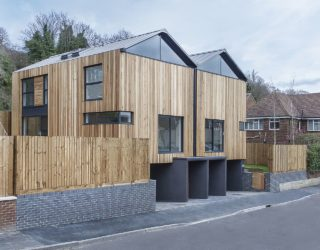 Contemporary Cedar Lodges in Winchester with Striking Pod-Like Design