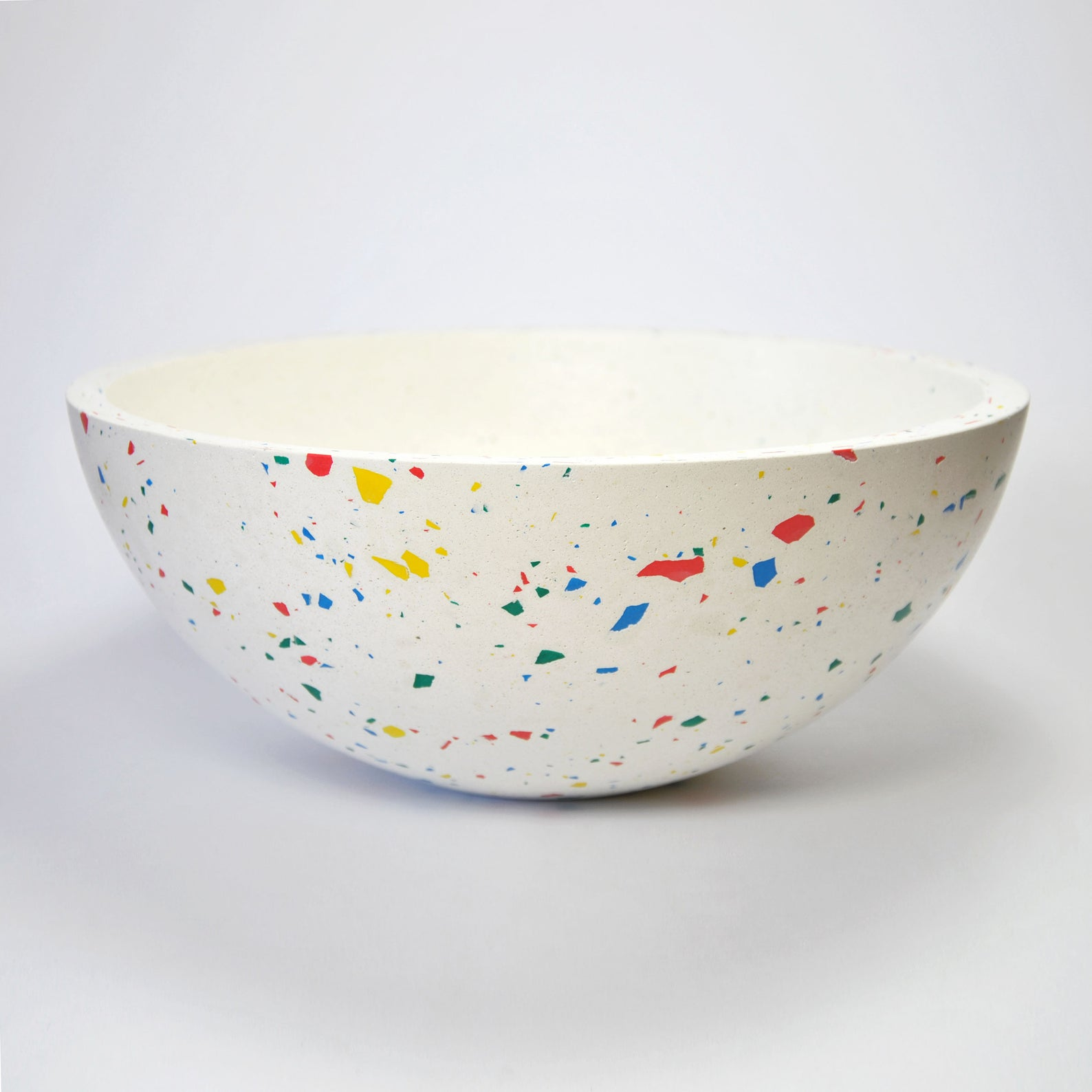 Vibrant terrazzo fruit bowl from Etsy shop Mica Rica