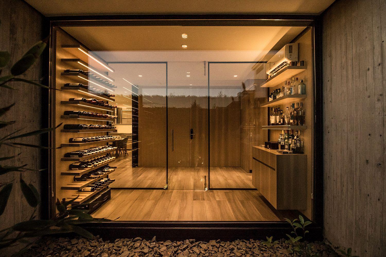 Wine cellar inside the LL House