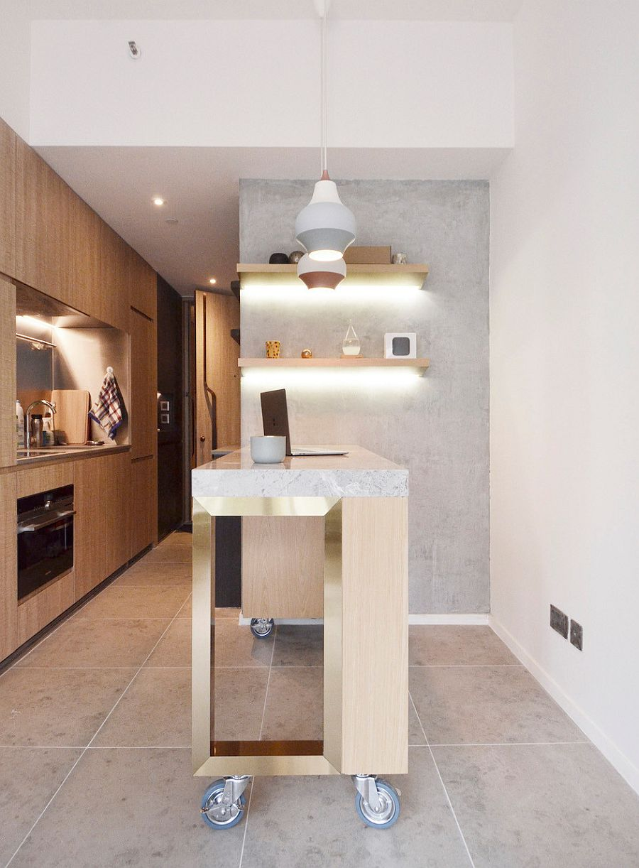 Beautiful-pendants-blend-into-the-gray-backdrop-of-the-kitchen