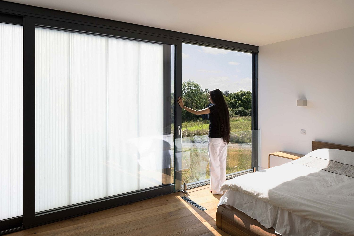 Bedroom combines privacy with fabulous meadow views