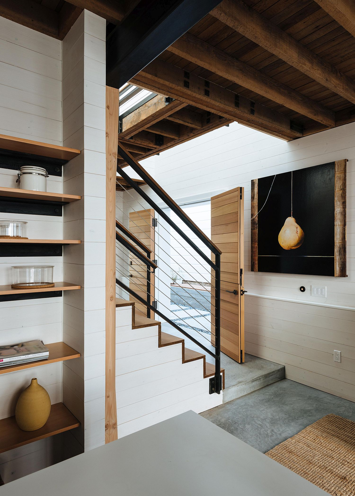 Entry of the renovated home in San Francisco
