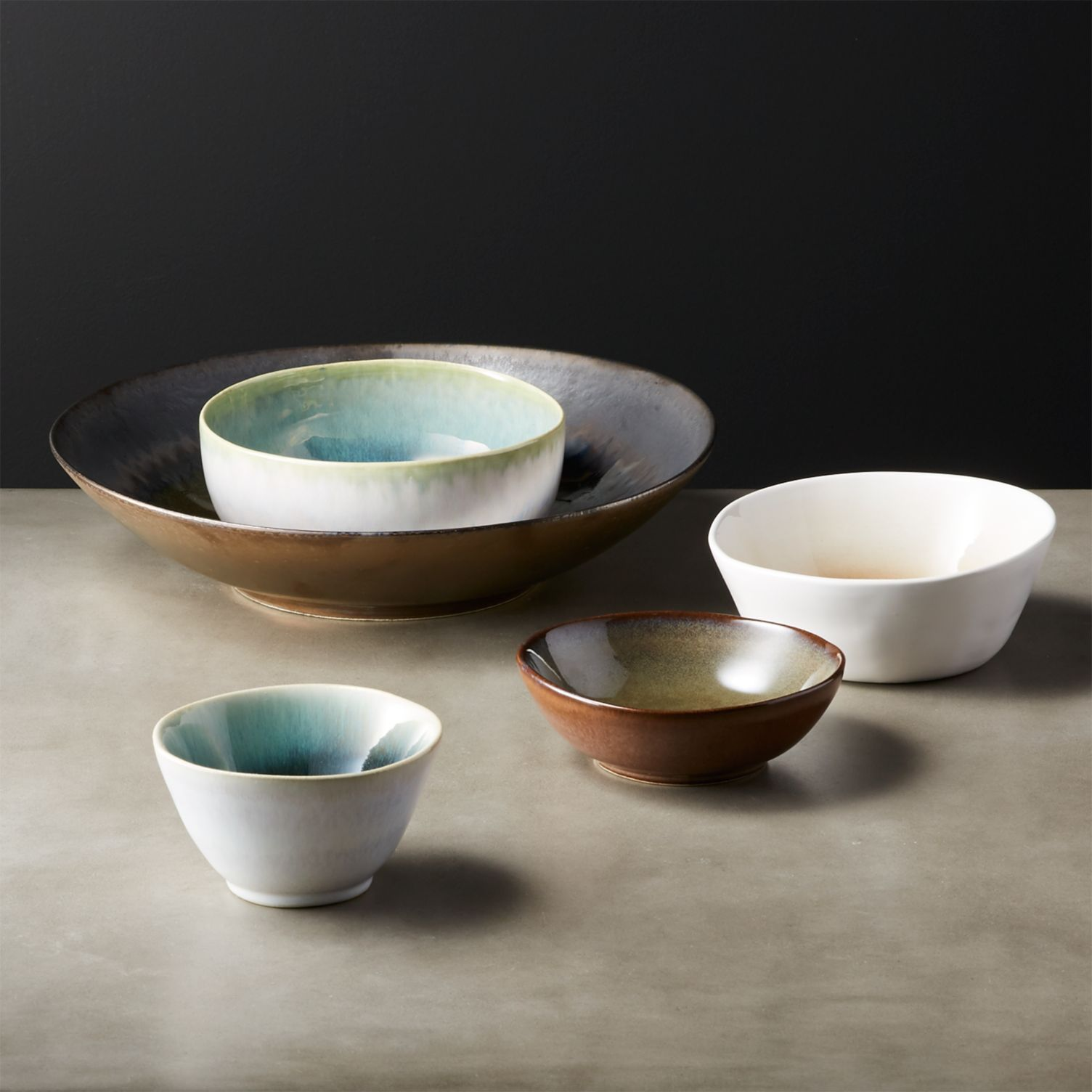 Glazed serving bowls from CB2