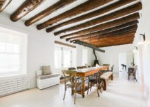 Majestic-white-and-wood-dining-room-with-ceiling-beams-that-bring-coziness-217x155