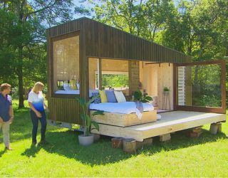 Ultra-Tiny Modern House in Wood with a Space-Savvy Daybed and Décor