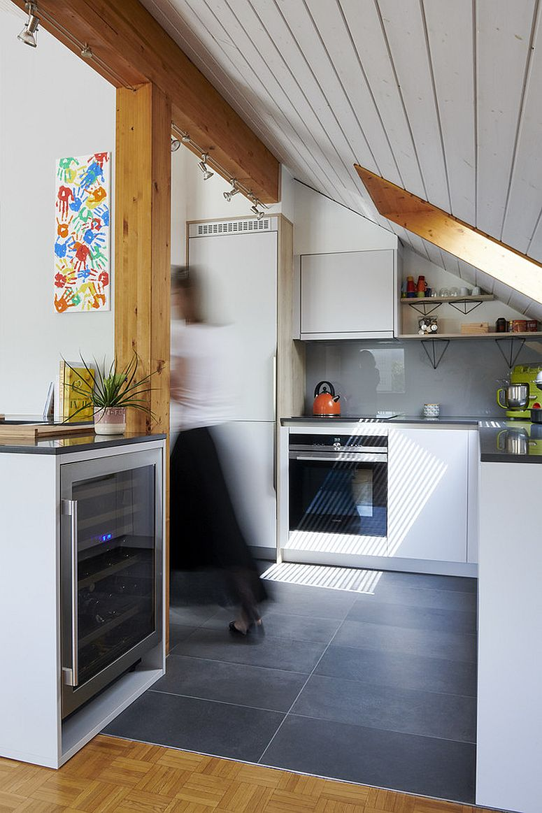 Skylight gives this kitchen a whole new dynamic