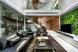 Stunning Modern Home in Singapore with a Spiral Staircase that Wows!