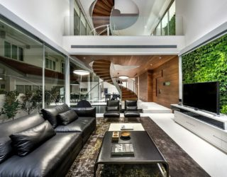 Modern Home in Singapore Makes a Statement With a Spiral Staircase