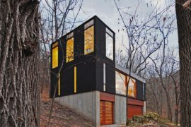 Stacked Cabin: Re-Imagining the Classic Cabin Vertically with Modern Refinement