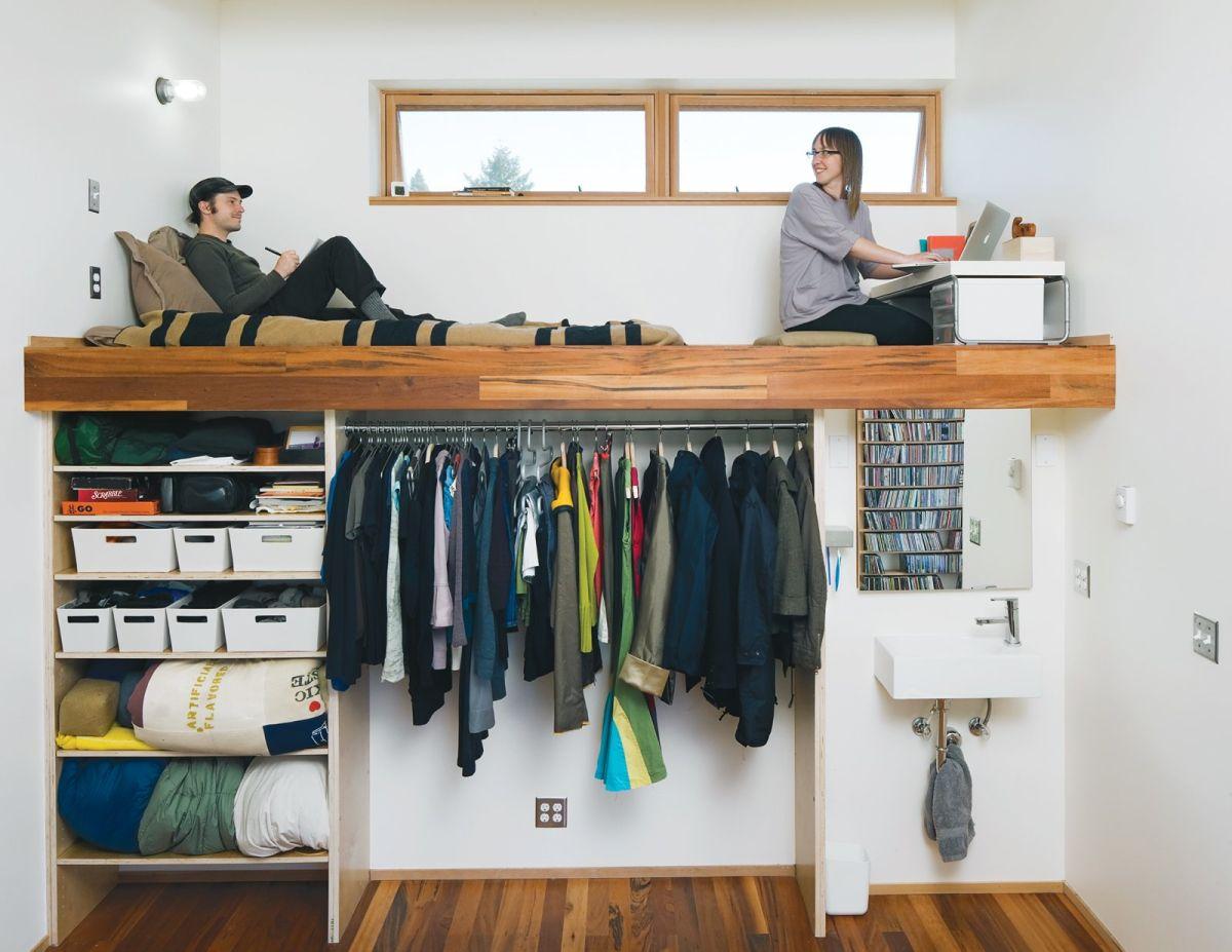 Adult-Loft-Bed-Closet