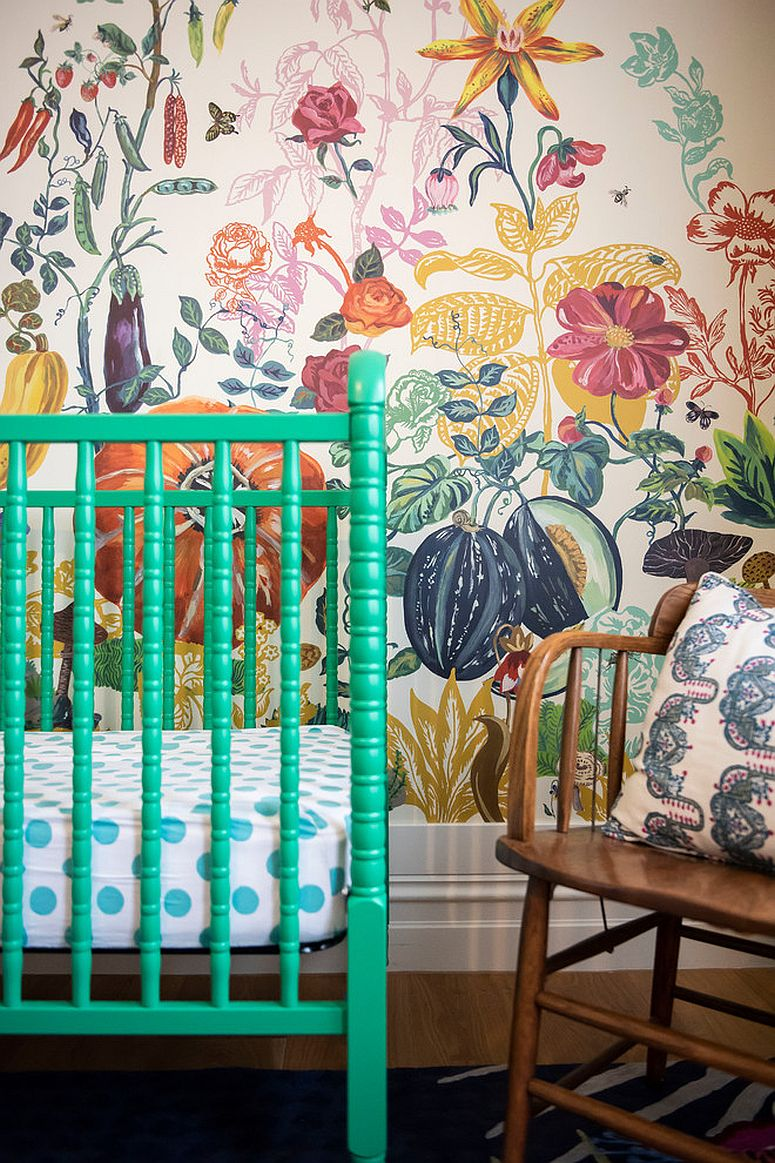 Backdrop filled with color and pattern in the nursery