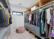 Bluish-gray-and-wood-used-in-the-small-and-spacious-closet-217x155