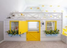 Brilliant-yellow-accents-in-the-bedroom-in-white-with-innovative-bed-above-and-play-area-below-217x155