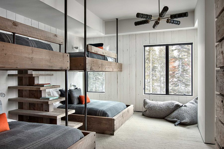 Bunk beds fit in well with multiple styles including industrial